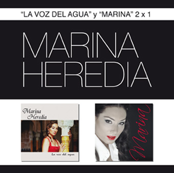 Portada del doble CD de Marina Heredia